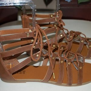 NWOB Canyon River Blues Brown Gladiator Sandals